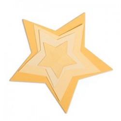 Fustelle Stelle Sizzix Framelits Die Set 5PK - Stars 657567