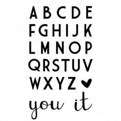 Fustella Alfabeto Vaessen Creative • Love It - Lettere 2cm altezza