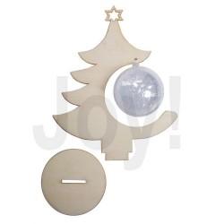 Albero di Natale con Pallina Trasparente 8cm - 25x15cm
