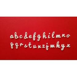 Alfabeto Corsivo Minuscolo - Fustellato