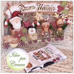 Pannello Trenino Buon Natale Idee per Creare - Kit Cucito Creativo Natalizio