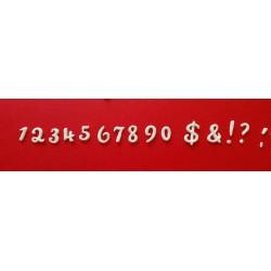 Numeri Corsivo - Fustellato
