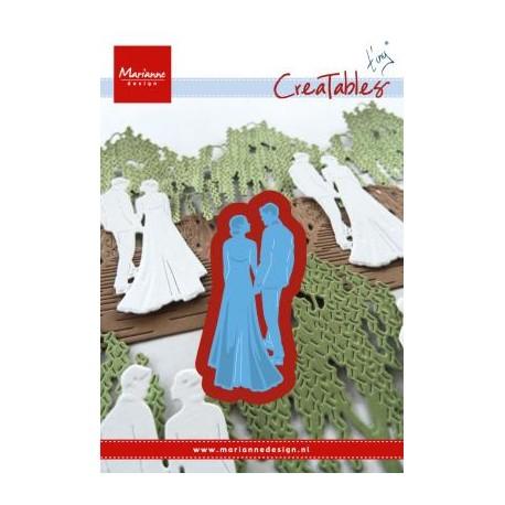 Fustella Sposi Matrimonio - Marianne Design Creatables TINY'S WEDDING LR0427