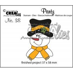 Fustella Pupazzo di Neve - Crealies Snowpop CLPARTZ38