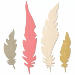 Fustella Piume Sizzix • Bigz Die Natural Feathers 664474