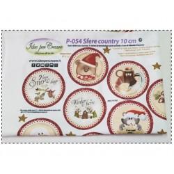 Pannello Sfere Country 10cm Idee per Creare - Kit Cucito Creativo (26 pezzi) Natale