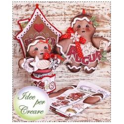 Pannello Biscotti di Pan di Zenzero - Idee per Creare - Kit Cucito Creativo P-037 Natale