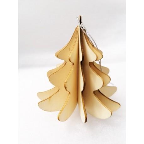 Albero di Natale 3D in Legno 9cm