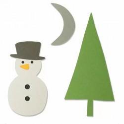 Fustella Sizzix Bigz Die - Snow Scene 664484