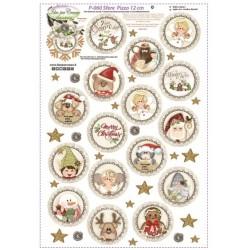 Pannello Sfere Pizzo 12cm Idee per Creare - Kit Cucito Creativo (16 pezzi) Natale