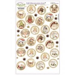 Pannello Sfere Country ORO/Crema 10 cm Idee per Creare - Kit Cucito Creativo (26 pezzi) Natale