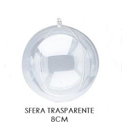 Pallina 8cm Trasparente Stafil - Sfera Plexiglass Diametro 8cm