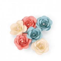 Fustella Rosa Sizzix • Bigz die Love birds 3-D Rose 660834