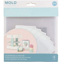 Fogli di Plastica Trasparente per Mold Press 3D We R Memory Keepers - Kit 6 Fogli