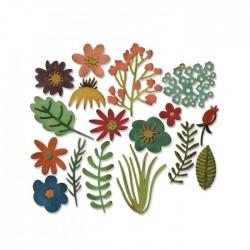 Fustella Fiori e Foglie Thinlits die set Funky Floral 662700