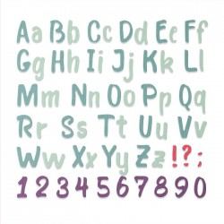 Alfabeto Sizzix • Thinlits die Bold brush Alphabet 664491