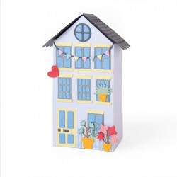 "Fustella Casa Sizzix • Thinlits die set No Place Like Home 663847 ""Nessun posto come casa"" Fustella Casetta"