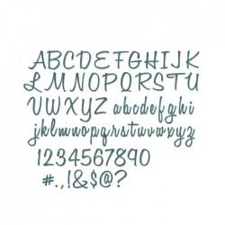 Alfabeto Sizzix Maiuscolo e Minuscolo • Sizzix • Thinlits die set Script 662228 Alfabeto Lettere e Numeri + Caratteri Speciali