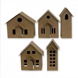 Fustella Casette 3D Sizzix • Thinlits die set Paper Village 664741