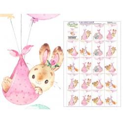 Pannello Sweet Girl -  Idee per Creare - Kit Sacchetti Nascita Portaconfetti Cucito Creativo
