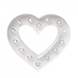 Cuore Luminoso - 22cm Decorazione Heidi Swapp • Marquee heart