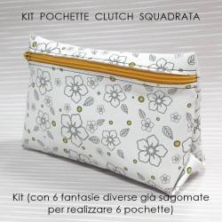 KIT POCHETTE Modello CLUTCH SQUADRATA - Tessy - Kit con Tessuto e Cartamodello