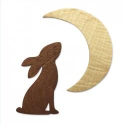 Fustella Luna e Coniglio - Sizzix • Bigz die Rabbit & Moon 665099