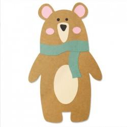 Fustella Orso Sizzix • Bigz Die Scandi Bear 664463