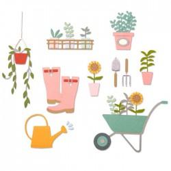 Fustelle Attrezzi da Giardino - Sizzix • Thinlits die set Garden shed 664379