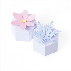 Fustella Scatolina Esagonale - Sizzix • Thinlits die set Box seasonal hexagon 664493