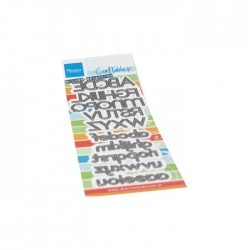 Fustella Alfabeto Marianne Design Craftables ALPHABET JOURNAL CR1513