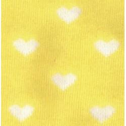 Tubolare Cuori Giallo e Bianco - 30cm x 8cm