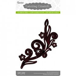Fustella Metallica Ramo Vortice con Foglie - Darice • Die Cut Swirl With Leaves