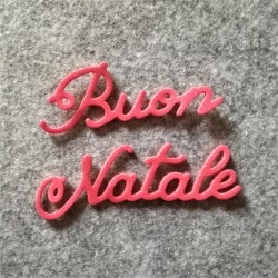 """Buon Natale"" Fustellato in gomma crepla"