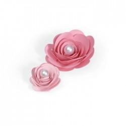 Fustella Rose 3D Sizzix • Bigz PRO die Flower 3D 657153