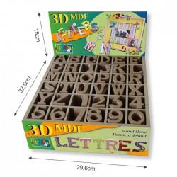 Lettere e Numeri in MDF - 4,5cm