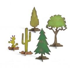 Fustella Alberi e Cactus - Sizzix Bigz Die - Village Landscape 661813