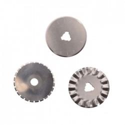 Lame di Ricambio per Taglierino rotante - 3 lame Ø28mm per Rotella
