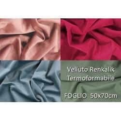 Velluto Renkalik Termoformabile - Vari Colori - 50x70cm