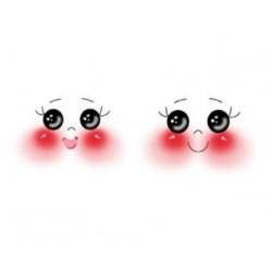 Faccine Disegnate in Legno -  SEMISFERE Occhi TONDI 3cm e 4cm