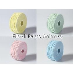 Filo di Feltro Modellabile - 5mm - Filo di Feltro Animato (Vari Colori)