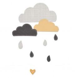 Fustella Nuvole Sizzix Bigz Die - 661380 Cloudy Days Nuvolette