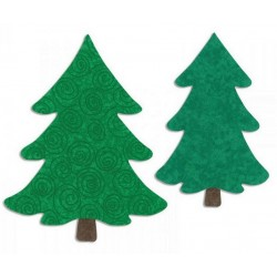 Fustella Alberi Sizzix Bigz L Die - Trees, Christmas 658109 Alberi di Natale