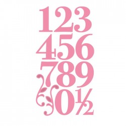 Fustella Numeri Eleganti e Decorazioni - Marianne Design Collectables - Elegant numbers COL1418
