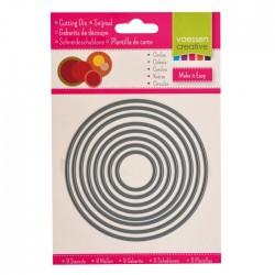 Fustella Cerchi - Vaessen Creative 3624-004 - Set di 8 Fustelle Circolari