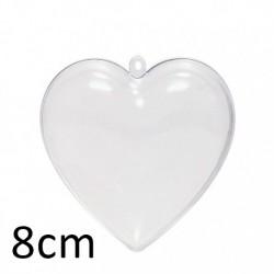 Cuore 8cm Trasparente - Cuore Apribile 8cm