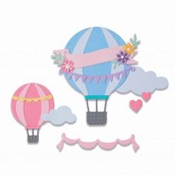 Fustella Mongolfiere Sizzix Thinlits Die Set 10 pezzi - Hot Air Balloon 665183