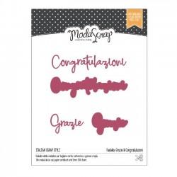 Fustella Grazie & Congratulazioni - MODASCRAP MSF 1-091 (4 pezzi)