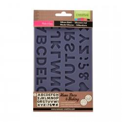 Stampo Alfabeto Vaessen Creative • Stampo Ceramica, Porcellana, ecc.. Stampo Lettere