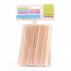 80 x Bastoncini di Legno - Lollipop Sticks 1,8 x 15 cm